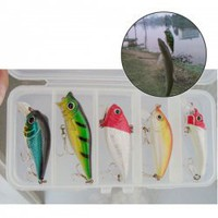 5PCS Lifelike Fish Shaped Fishing Lures with 2 Treble Hooks for Fishing Lovers China Wholesale - ahappydeal.com