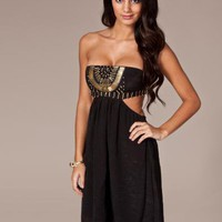 Embellished Cut Out Dress - Reverse - Svart - Festkl?nningar - Kl?der - NELLY.COM Mode online p? n?tet