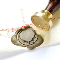 Deer Antler Gold Plated Wax Seal Stamp x 1