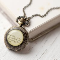 Love pocket watch necklace - Wedding accessory (PW017)