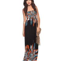 Abstract Feather Maxi Dress | FOREVER21 - 2000034538