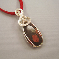 Wire Wrapped Pendant Minnesota Porphyry Cabochon by UptightWanda
