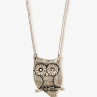 Perched Owl Necklace | FOREVER 21 - 1030187499