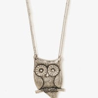 FOREVER 21 Perched Owl Necklace