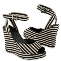 Striped Platform Wedges | FOREVER21 - 2008585885