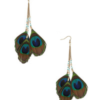 Peacock Fringe Earrings | FOREVER21 - 1000043941