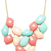 Imogen Necklace in Pastel - ShopSosie.com