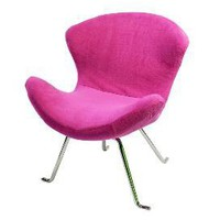 Ultra Soft Wing Chair in Pink (Set of 2)