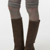 Floral Pointelle Cuff Over-the-Knee Sock