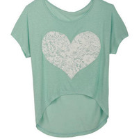 Mint Puff Heart Tee