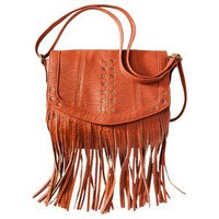 Mossimo Supply Co. Fringe Crossbody Handbag - Orange