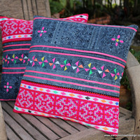 Hmong Batik With Colorful Appliqué & Bright by SiameseDreamDesign
