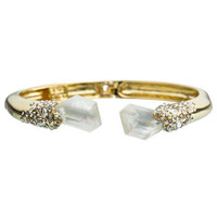 Bel Air Gold Small Druzy Two Stone Hinge Bracelet :: Bracelets :: Jewelry By Category :: Alexis Bittar