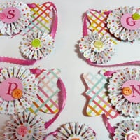 Rosette Banner/ Holiday Easter Paper Rosette by valburgesscollage