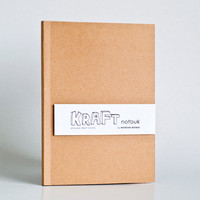 A5 size  Blank Kraft Paper Notebook by NotbookNotbuk on Etsy