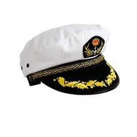 Sailors Captains Nautical Hat With Anchor Detail