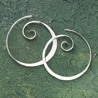 Koru Spiral Earrings - New Age & Spiritual Gifts at Pyramid Collection