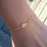 Gold Hamsa Bracelet by cocolocca on Etsy