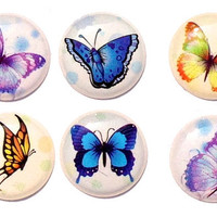 Butterflies - 6 Piece Home Button Decal Stickers for Apple iPhone, iPad, iPad Mini, iTouch