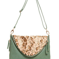 GYPSY WARRIOR - Sea Foam Leopard Bag