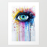 """Rainbow Eye"" Art Print by PeeGeeArts"