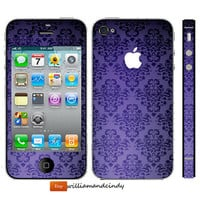 Iphone 5 4/4s Sticker - seamless pattern - Decal Skin