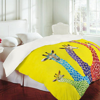 Clara Nilles Jellybean Giraffes Duvet Cover