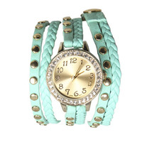 Braided Rhinestone Wrap Watch | Shop Jewelry at Wet Seal