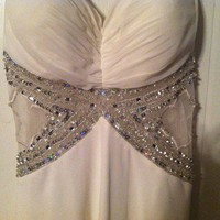 Long White Halter Top Prom Dress