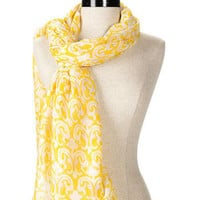 Monet Garden Scarf in Yellow