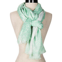 Paris Lace Print Scarf