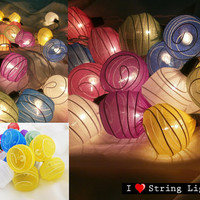Mixed Colour Spinroll fairy String Lights For Wedding and House decoration (20 Flowers/Set)