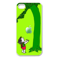 love story little Boy and the giving tree with an apple iphone 5 case