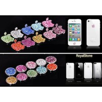 HOT Royalstone Bling Home Button and Logo Sticker for Apple iPhone iPod Case Cover-Silver: Cell Phones & Accessories