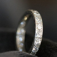 Vintage Diamond & Platinum Eternity Ring by Ruby Gray's | Ruby Gray's Antique & Vintage Rings