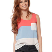 Papaya Clothing Online :: COLORBLOCKED ONE POCKET TOP