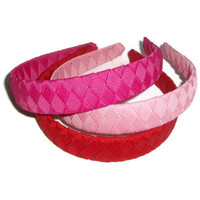 Woven Braided Headband with Grosgrain Ribbon by xoribbons on Etsy