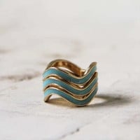 Shadow Ridge Ring in Sky, Sweet Bohemian Jewelry