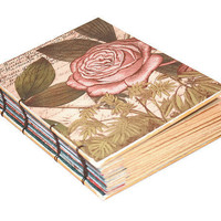 Vintage Rose Coptic Bound Journal by Thenibandquill on Etsy