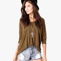 3/4 Sleeve Jersey Top | FOREVER 21 - 2000021659