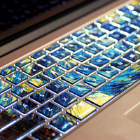 Van Gogh's Starry NightPervious to lightMacbookdecal by Tloveskin