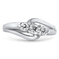 14K White Gold The Emlin Ring