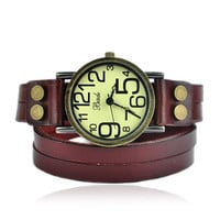 Fashion Vintage Style Double Wraps Watch