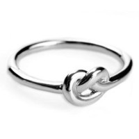 Max & Chloe - Avanessi White Gold Love Knot Ring - Max and Chloe