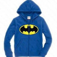 Blue Batman Logo Hoodie