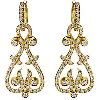 Max & Chloe - Jenny Perl Diamond Swirl Heart and Dots Earring Enhancers - Max and Chloe
