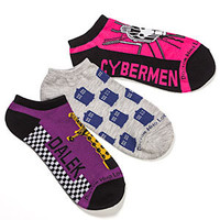 Ladies' Doctor Who Low Cut Socks 3 pack