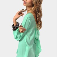 Waldorf Bow Blouse - Mint