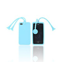 AT&T/ Verizon Apple iPhone 4, iPhone 4S Silicone Case w/ Stand - Sky Blue Bug