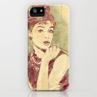 Audrey Hepburn iPhone Case by Marie-Pier Larocque